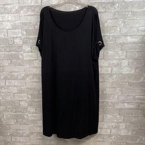 Calvin Klein black beach cover tunic shirt dress